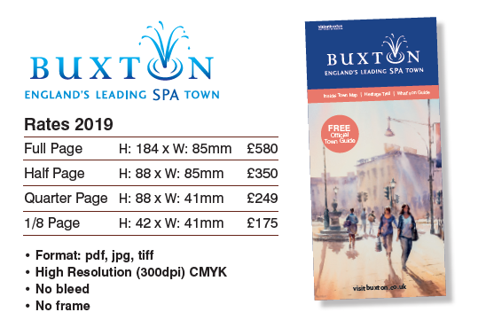 2019 Buxton Town Guide rate card