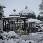 Snowy bandstand