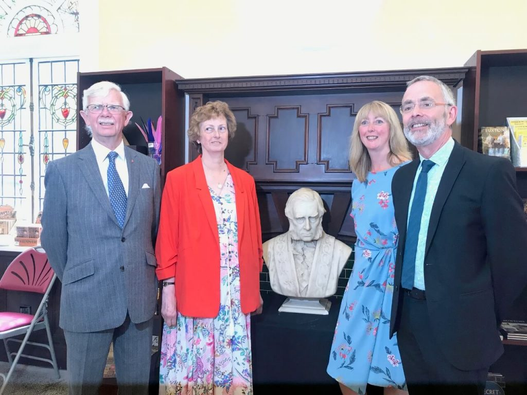 Unveiling of a bust of the 7th Duke of Devonshire at the official opening of The Pump Room, Buxton.